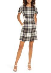 French Connection Eleanor Plaid Sheath Dress