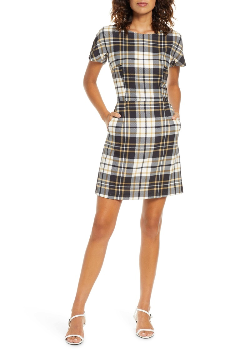French Connection Eleanor Plaid Sheath Dress