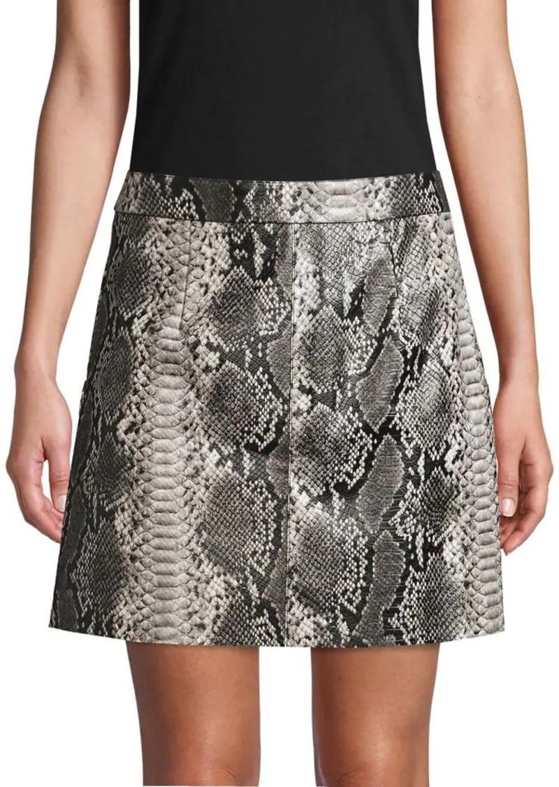 French Connection Elias Reptile Mini Skirt