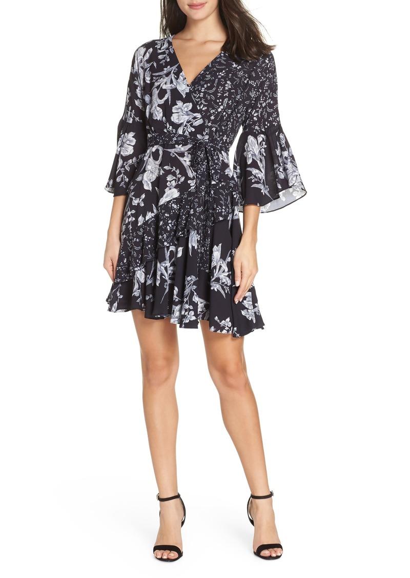 French Connection Ellette Crepe Faux Wrap Dress