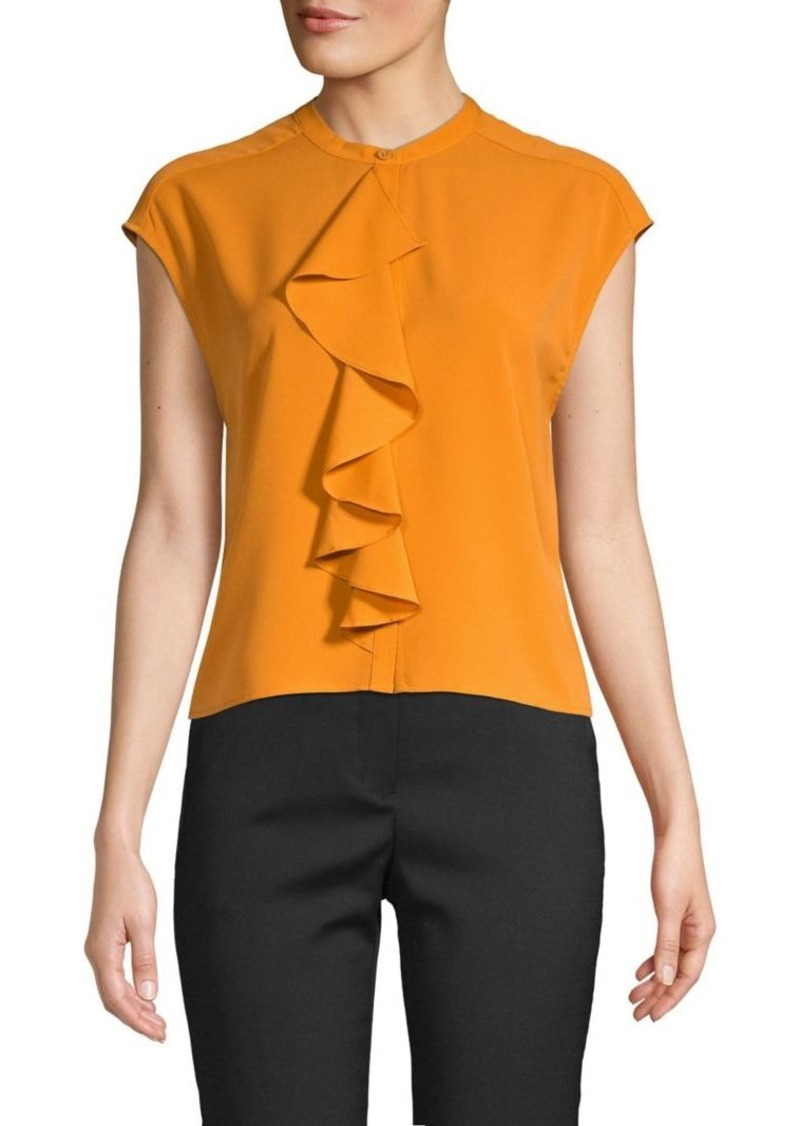 French Connection Elna Ruffled Top