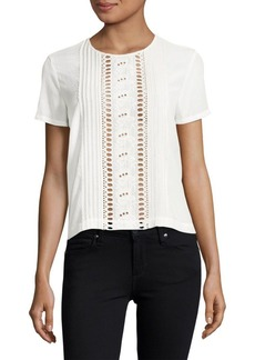 Embroidered Cutout Top
