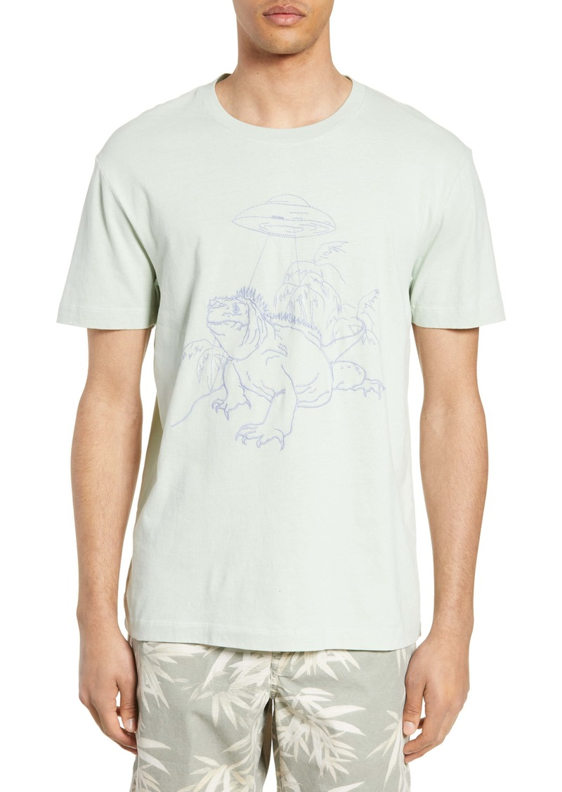 French Connection Embroidered Iguana T-Shirt