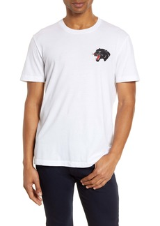 French Connection Embroidered Panther T-Shirt
