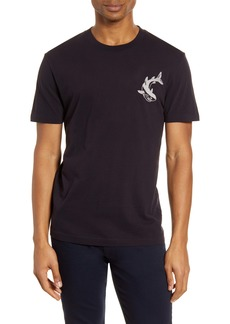 French Connection Embroidered Shark T-Shirt