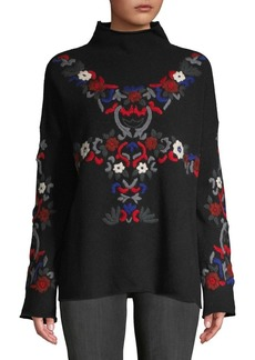 French Connection Emily Embroidered Sweater