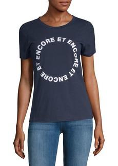 French Connection Encore Et Encore Cotton Tee
