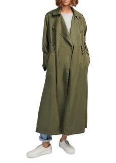 FRENCH CONNECTION Ereca Draped-Lapel Duster Coat
