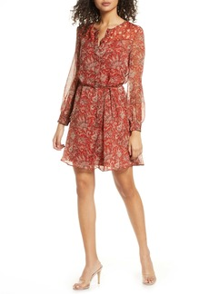 French Connection Esi Paisley Long Sleeve Dress