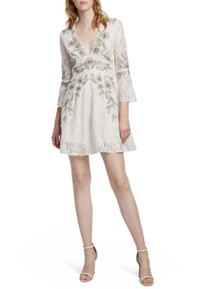 French Connection Esme Shimmer Beaded Lace Dress
