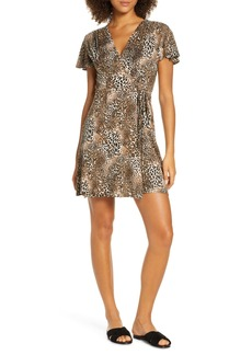 French Connection Eso Leopard Print Jersey Dress