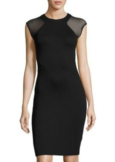 French Connection Eso Viven Mesh-Paneled Dress