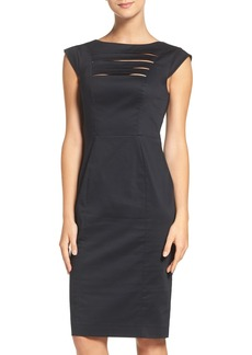 French Connection 'Estelle' Cutout Cotton Blend Sheath Dress