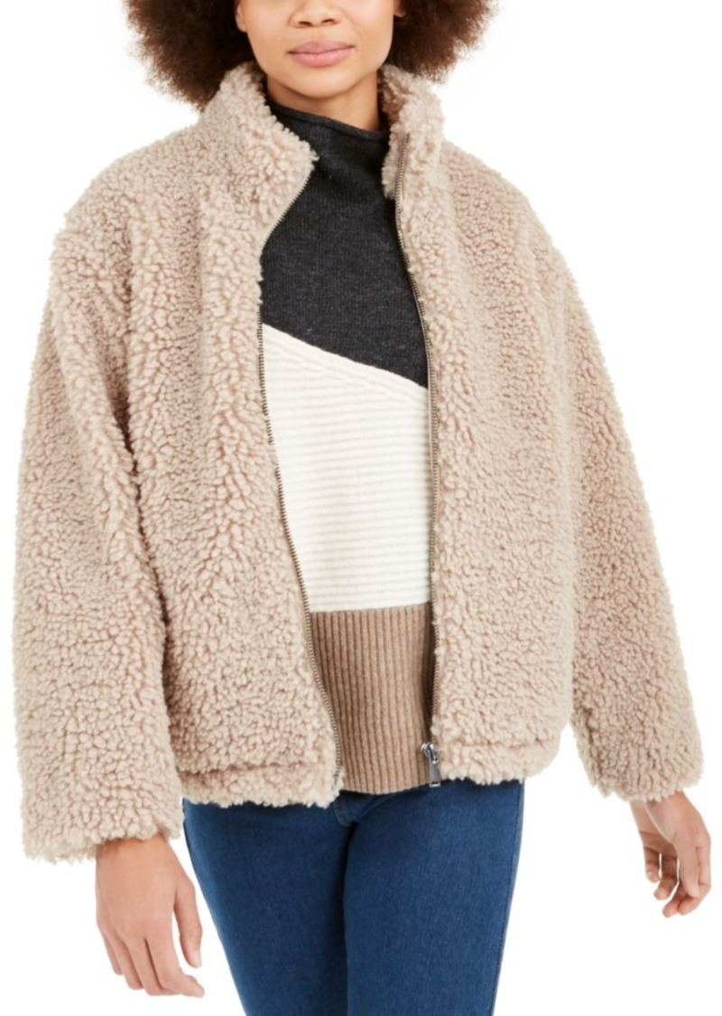 French Connection Fabi Mock-Neck Sherpa Jacket