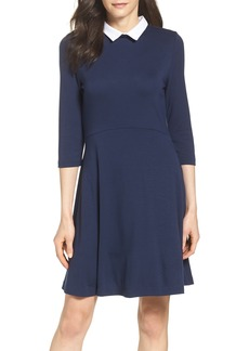 French Connection 'Fast Fresh' Collared Jersey Fit & Flare Dress