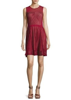 French Connection Fast Score Striped-Lace Dress