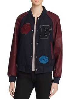 FRENCH CONNECTION Fast Viv Varsity Jacket - 100% Bloomingdale's Exclusive