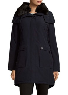 French Connection Faux Fur-Accented Hooded Parka