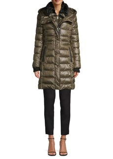 French Connection Faux-Fur Hooded Puffer Coat