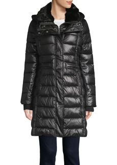 French Connection Faux Fur Hooded Puffer Jacket