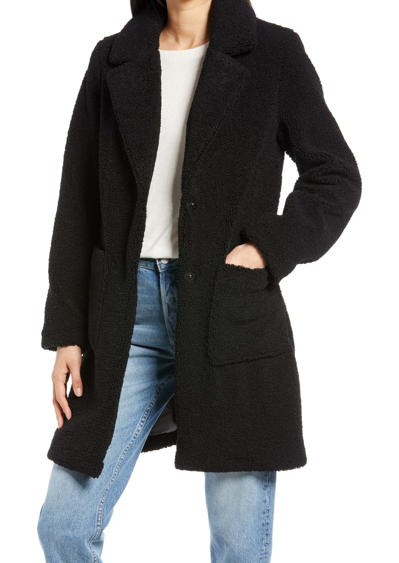 French Connection Faux Fur Teddy Coat