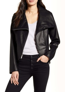 French Connection Faux Leather Moto Jacket