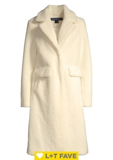 French Connection Faux-Shearling Duster Coat