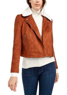 French Connection Faux-Shearling Moto Jacket