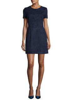French Connection Faux Suede Mini Dress