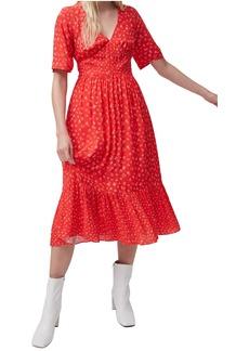 French Connection Fayola Drape Midi Dress