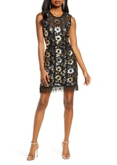 French Connection Fia Sparkle Flower Sleeveless Sheath Dress