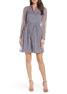 French Connection Fifine Long Sleeve Crinkle Dress