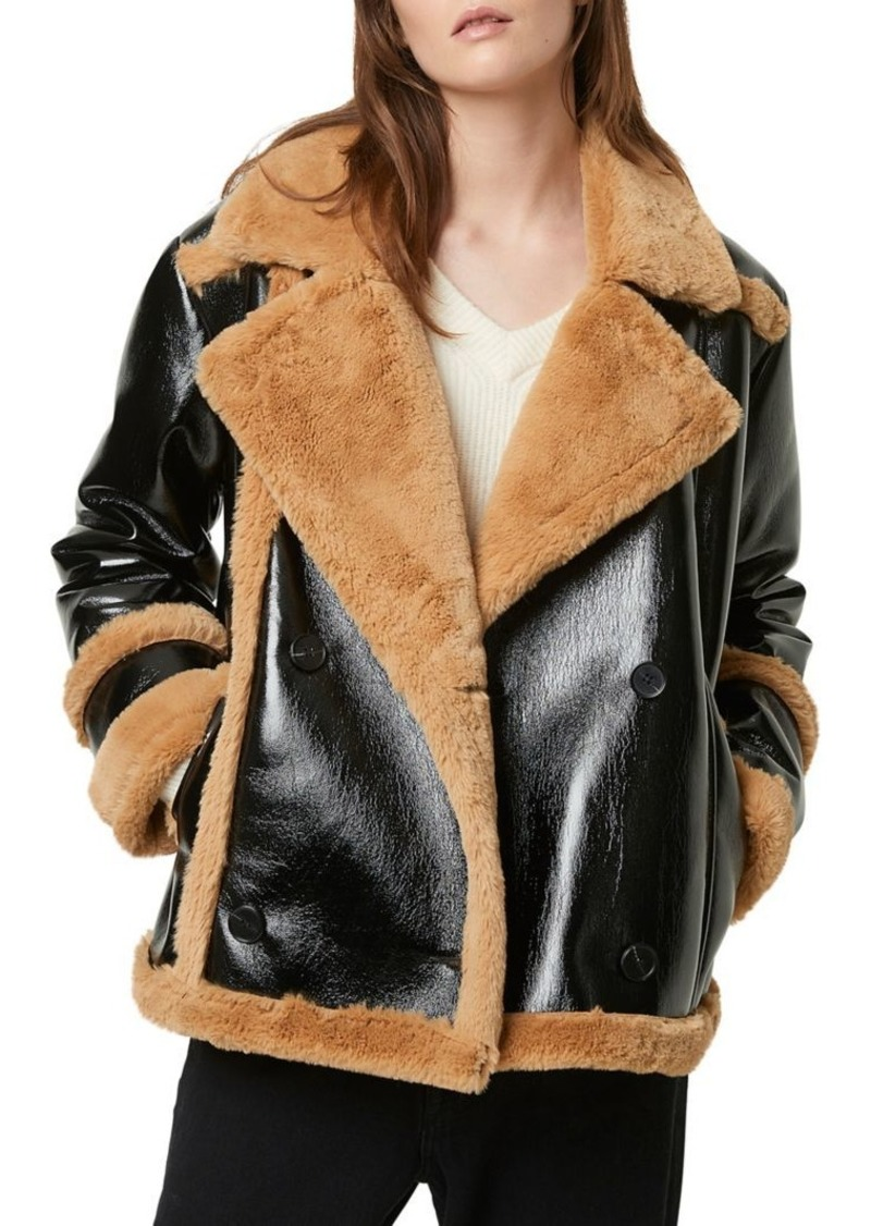 French Connection Filipa Faux-Shearling Faux Leather Jacket