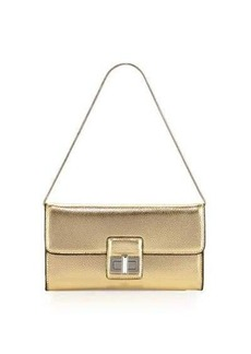 French Connection Fiona Metallic Clutch Bag