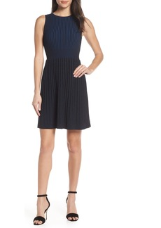French Connection Fit & Flare Knit Dress