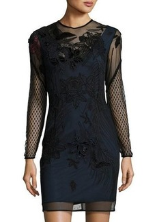French Connection Floral-Applique Sheath Dress