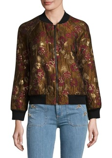 French Connection Floral Lace Bomber Jacket