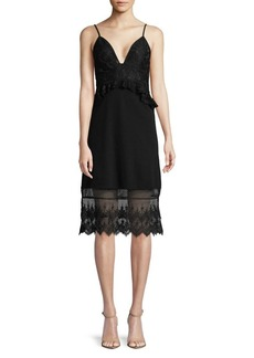 French Connection Floral Lace Sleeveless Dress