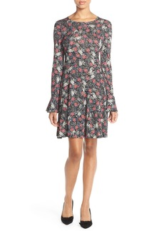 French Connection Floral Print Jersey A-Line Dress