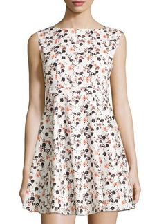 French Connection Floral-Print Sleeveless Mini Dress