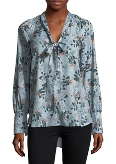 French Connection Floral Self-Tie Top
