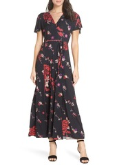 French Connection Floral V-Neck Maxi Dress