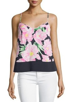 French Connection Floral V-Neck Tank