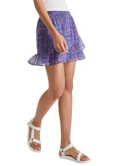 French Connection Flores Crinkle Miniskirt