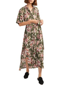 French Connection Floriana Drape Maxi Dress