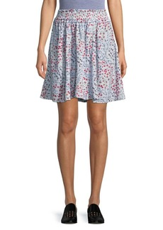 French Connection Frances Drape Gathered A-Line Skirt