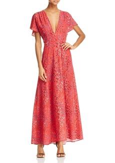 FRENCH CONNECTION Frances Faux Wrap Maxi Dress
