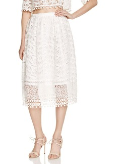 FRENCH CONNECTION Freddy Lace Pom-Pom Midi Skirt