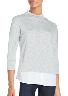 French Connection Fresh Jersey High-Neck Blouse
