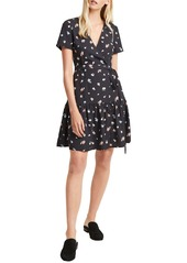 French Connection Frida Arimose Crepe Faux Wrap Dress